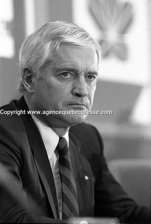 Montreal (QC) CANADA   1988 file photo - <br /> John Turner<br /> , Liberal leader