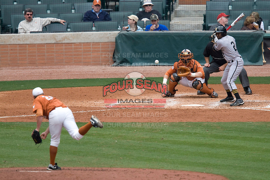 NCAA Baseball featuring the Texas Longhorns against the Missouri Tigers. Texas v Missouri 5007  at the 2010 Astros College Classic in Houston's Minute Maid Park on Sunday, March 7th, 2010. Photo by Andrew Woolley
