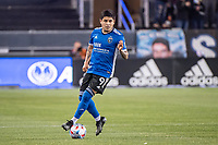 SAN JOSE, CA - MAY 01: Javier Eduardo Lopez #9 of the San Jose Earthquakes controls the ball during a game between San Jose Earthquakes and D.C. United at PayPal Park on May 01, 2021 in San Jose, California.