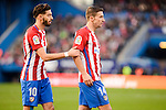 "Atletico de Madrid Yannick Carrasco and Gabriel ""Gabi"" Fernández during La Liga match between Atletico de Madrid and UD Las Palmas at Vicente Calderon Stadium in Madrid, Spain. December 17, 2016. (ALTERPHOTOS/BorjaB.Hojas)"