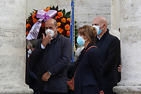 The president of Lazio Region and secretary of Democratic Party Nicola Zingaretti during the funeral of the Italian actor Gigi Proietti. The actor was taken to the Globe Theatre for a short ceremony before the one in the church of Artist in Piazza del popolo.<br /> Rome (Italy), November 5th 2020<br /> Photo Samantha Zucchi Insidefoto
