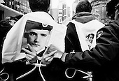 New York, New York<br /> USA<br /> March 19, 2005<br /> <br /> Demonstrators are arrested outside the United States Army recruiting station in New York's Times Square protesting the second anniversary of the War on Iraq March 19, 2003. Demonstrators from several peace and social justice groups marched to various United States military recruiting stations throughout New York city disrupting the recruiting process.