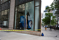 NEW YORK, NEW YORK - JUNE 2: A Best Buy store is seen after a night of looting on stores due to protest on June 2, 2020 in New York City. Protests spread across the country in at least 30 cities across the United States, over the death of unarmed black man George Floyd at the hands of a police officer, this is the latest death in a series of police deaths of black Americans. New York face it's second night of a curfew (Photo by Joana Toro / VIEWpress via Getty Images)