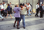 Buenos Aires Argentina South America BsAs tango dancing lessons after work in the down town area 2000s 2002