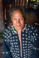 Thailand, Mae Hong Son. Man from Lahu tribe in northern Thailand.