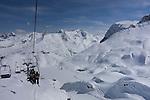Riding Madloch Chairlift at Zurs Ski Area, Austria