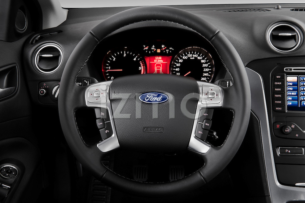 Steering wheel view of 2011 Ford Mondeo Trend Wagon Stock Photo