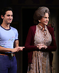 """Michael Hsu Rosen and Mercedes Ruehl during the Broadway Opening Night Curtain Call for """"Torch Song"""" at the Hayes Theater on November 1, 2018 in New York City."""