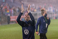 EAST HARTFORD, CT - JULY 1: Megan Rapinoe #15 of the USWNT waves to fans during a game between Mexico and USWNT at Rentschler Field on July 1, 2021 in East Hartford, Connecticut.