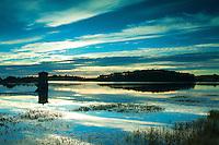 Waulkmill Reservoir at dawn, Dams to Darnley Country Park, Barrhead, East Renfrewshire
