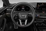 Car pictures of steering wheel view of a 2021 Audi S5-Sportback Premium-Plus 5 Door Hatchback Steering Wheel