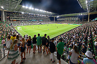 AUSTIN, TX - JUNE 19: A photo of Q2 Stadium during a game between San Jose Earthquakes and Austin FC at Q2 Stadium on June 19, 2021 in Austin, Texas.
