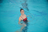 Alie Bollaidlaw of the 2010 Stanford Synchronized Swimming team.