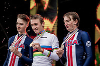 Mikkel Bjerg (DEN) becomes the U23 TT World Champion once again, ahead of americans Ian Garisson (2nd) & Brandon McNulty (3rd)<br /> <br /> Men U23 Individual Time Trial<br /> <br /> 2019 Road World Championships Yorkshire (GBR)<br /> <br /> ©kramon