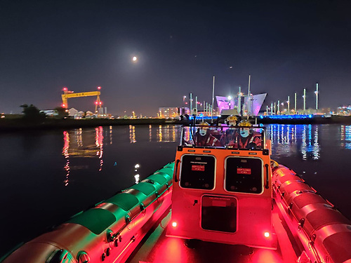 Lagan S&R is an independent Lifeboat covering the seaward River Lagan and Belfast Lough