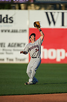 Mahoning Valley Scrappers second baseman Tyler Friis (34) catches a popup during a game against the Williamsport Crosscutters on July 8, 2017 at BB&T Ballpark at Historic Bowman Field in Williamsport, Pennsylvania.  Williamsport defeated Mahoning Valley 6-1.  (Mike Janes/Four Seam Images)