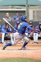 Jose Bonilla of the Kansas City Royals  plays in minor league spring training game against the Texas Rangers at the Rangers minor league complex on March 22, 2011  in Surprise, Arizona. .Photo by:  Bill Mitchell/Four Seam Images.
