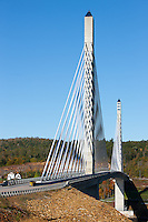 The new Penobscot Narrows Bridge, spans the Penobscot river from Verona Island to Prospect, Maine.