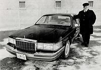 1989 FILE PHOTO - ARCHIVES -<br /> <br /> Chauffeur Wally Adair