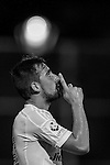 Paco Alcacer of Valencia CF celebrates after scoring during LFP World Challenge 2014 between Valencia CF vs BC Rangers FC on May 28, 2014 at the Mongkok Stadium in Hong Kong, China. Photo by Victor Fraile / Power Sport Images