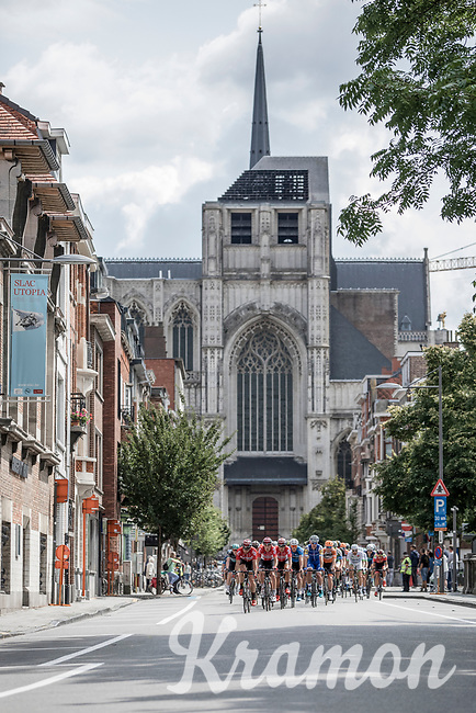 Peloton<br /> <br /> 51th GP Jef 'Poeske' Scherens 2017 <br /> Leuven - Leuven (13local laps/153.7km)