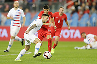 TORONTO, ON - OCTOBER 15: Paul Arriola #7 of the United States turns and moves with the ball during a game between Canada and USMNT at BMO Field on October 15, 2019 in Toronto, Canada.