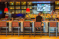 Las Vegas, Nevada.  Patron at the Bar in The Cromwell Casino.