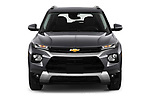 Car photography straight front view of a 2021 Chevrolet Trailblazer LT 5 Door SUV Front View