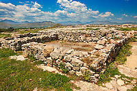 Tiryns (  or ) Mycenaean city archaeological site,  Peloponnesos, Greece. A UNESCO World Heritage Site