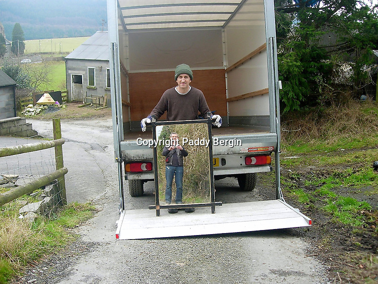 Moving in a friend and the mirror is the last item to be unloaded.<br />
