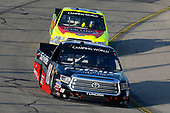 #18: Noah Gragson, Kyle Busch Motorsports, Toyota Tundra Safelite AutoGlass and #88: Matt Crafton, ThorSport Racing, Ford F-150 Jack Links/Menards