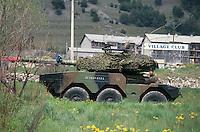 - heavy armored car ERC 90 SAGAIE during military exercises in High Savoia ....- autoblindo pesante ERC 90 SAGAIE durante esercitazioni militari in Alta Savoia