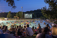 Deep Eddy Pool Splash Movie Night, a family-friendly summer tradition, is a favorite Austin activity for children and adults alike.