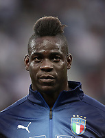 International friendly football match France vs Italy, Allianz Riviera, Nice, France, June 1, 2018. <br /> Italy's Mario Balotelli prior to the international friendly football match between France and Italy at the Allianz Riviera in Nice on June 1, 2018.<br /> UPDATE IMAGES PRESS/Isabella Bonotto
