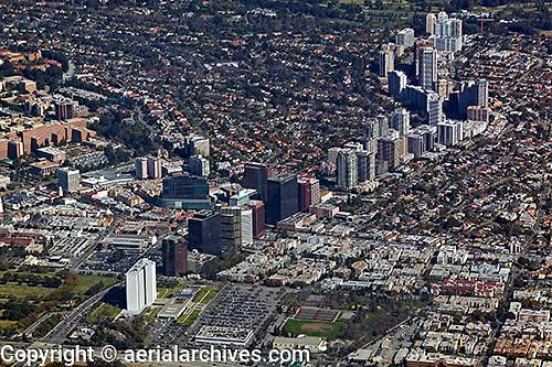 aerial photograph of Wilshire Boulevard, Los Angeles, California