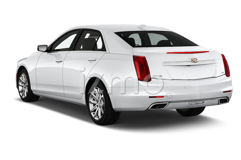 Car pictures of rear three quarter view of 2016 Cadillac CTS Luxury Collection 4 Door sedan Angular Rear