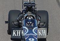 Feb. 24, 2013; Chandler, AZ, USA; NHRA top fuel dragster driver Shawn Langdon during the Arizona Nationals at Firebird International Raceway. Mandatory Credit: Mark J. Rebilas-