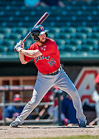 31 May 2018: Portland Sea Dogs infielder Jantzen Witte in action against the New Hampshire Fisher Cats at Northeast Delta Dental Stadium in Manchester, NH. The Sea Dogs rallied to defeat the Fisher Cats 12-9 in extra innings. Mandatory Credit: Ed Wolfstein Photo *** RAW (NEF) Image File Available ***