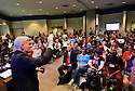 Senator Bill Cassiday faces protesters at his town hall meeting in Metairie