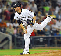Jack Egbert of the Birmingham Barons pitches during the 2007 Southern League All-Star Game July 9, 2007, at Trustmark Park in Pearl, Miss. (Photo by:  Tom Priddy/Four Seam Images)