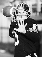 Charlie Weatherbie Ottawa Rough Riders quarterback 1979. Copyright photograph Ted Grant
