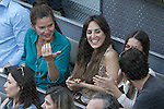 Spanish chef Samantha Vallejo-Nagera and Tamara Falcó Preysler during Madrid Open Tennis 2015 Final match.May, 10, 2015.(ALTERPHOTOS/Acero)