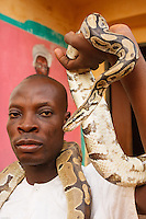 Africa,Benin,Ouidah, Python temple of Ove Dah family -tempio dei pitoni della famiglia Ove Dah, a Ouidah, Benin