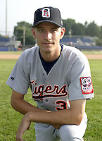 July 22, 2004:  Matt Righter of the Oneonta Tigers, Short-Season Low-A NY-Penn League affiliate of the Detroit Tigers, during a game at Dwyer Stadium in Batavia, NY.  Photo by:  Mike Janes/Four Seam Images