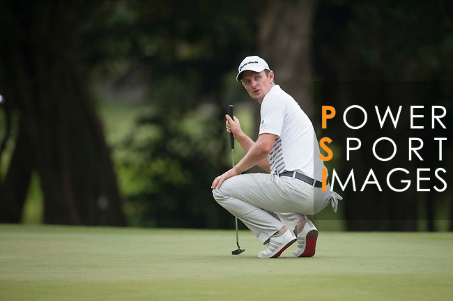 Justin Rose from England ponders his next shot during Hong Kong Open golf tournament at the Fanling golf course on 22 October 2015 in Hong Kong, China. Photo by Xaume Olleros / Power Sport Images during Hong Kong Open golf tournament at the Fanling golf course on 22 October 2015 in Hong Kong, China. Photo by Xaume Olleros / Power Sport Images