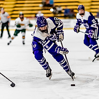 16 February 2019: Holy Cross Crusader Forward Sarah Stevens, a Junior from Avon, CT, in action against the University of Vermont Catamounts at Gutterson Fieldhouse in Burlington, Vermont. The Lady Cats defeated the Crusaders 4-1 to sweep their 2-game weekend series. Mandatory Credit: Ed Wolfstein Photo *** RAW (NEF) Image File Available ***