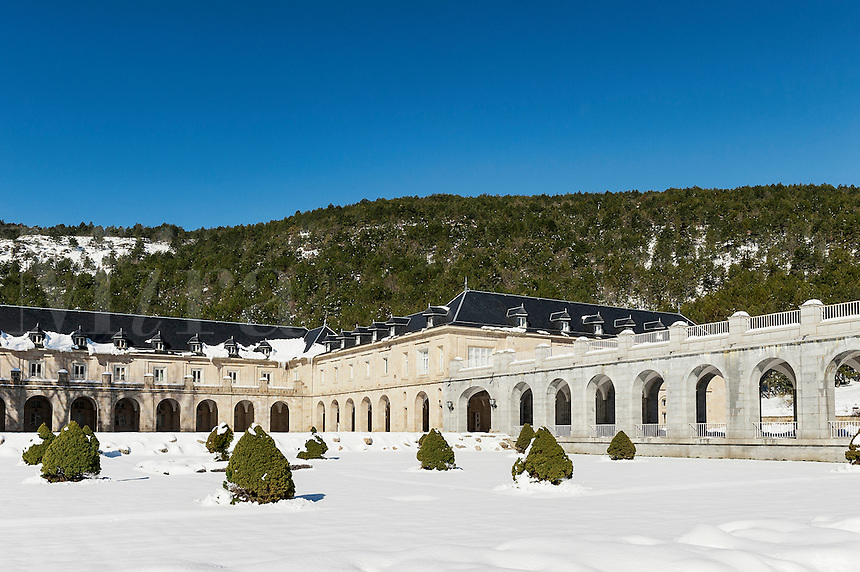 The Benedictine Abbey of the Holy Cross of the Valley of the Fallen, Guadarrama, Spain