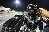 Sept. 16, 2012; Concord, NC, USA: NHRA pro mod driver Leah Pruett during the O'Reilly Auto Parts Nationals at zMax Dragway. Mandatory Credit: Mark J. Rebilas-