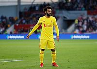 25th September 2021; Brentford Community Stadium, London, England; Premier League Football Brentford versus Liverpool; Mohamed Salah of Liverpool