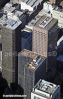 aerial view above McKesson Plaza (left) and adjacent office towers San Francisco California